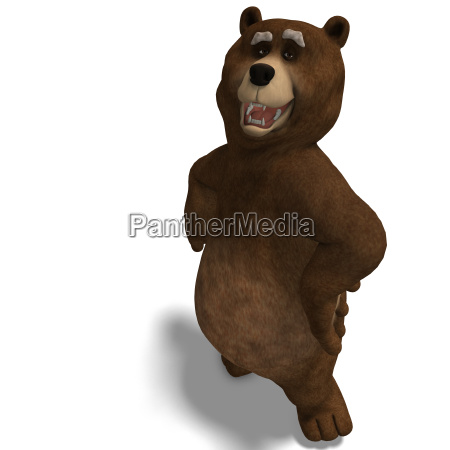 cute and funny toon bear is