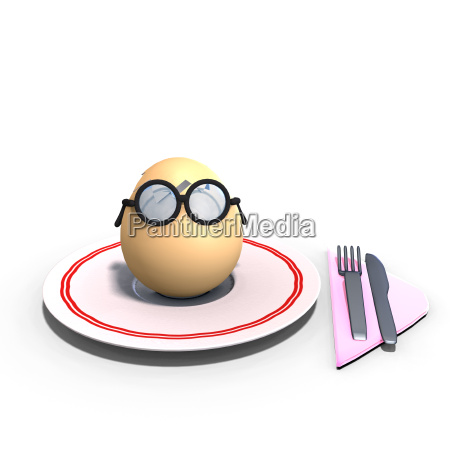 cute and funny toon egg served