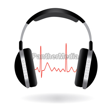 image of headphones and sound wave