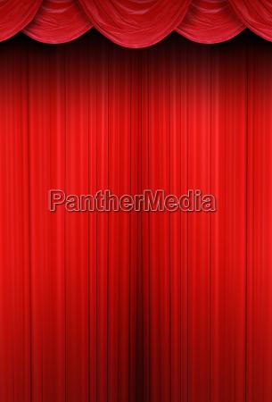 theater vorhaenge aus rotem stoff