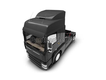 bigtruck isolated black front view