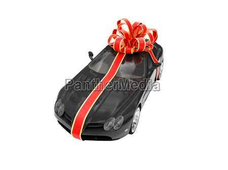 gift isolated black car front view