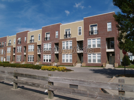new townhouse or condo type homes