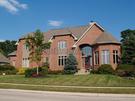 large two story new brick home