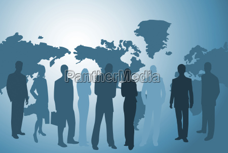 businesspeople, and, worldmap - 4690310