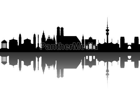muenchen silhouette abstrakt