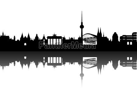 deutschlan, skyline, abstrakt - 4694584