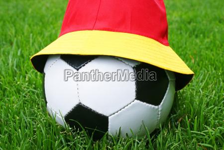 fussball fanartikel soccer fan concept