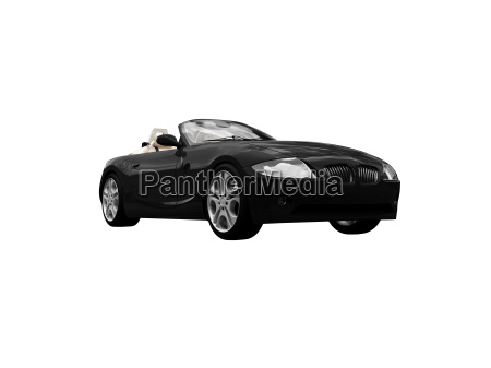 isolated black car front view 05