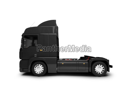 bigtruck isolated black side view