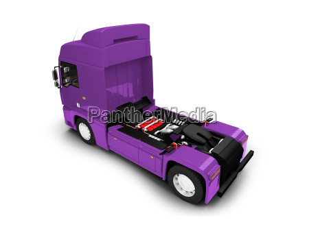 bigtruck isolated purple back view