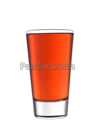 glass of red lemonade isolated on