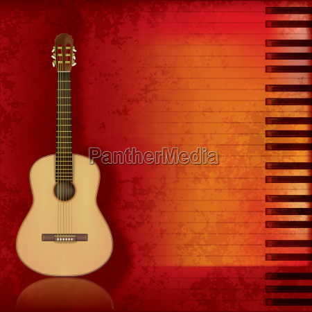music grunge background acoustic guitar and