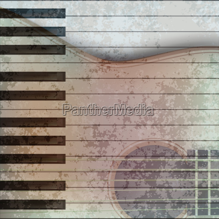 abstract music grunge background acoustic guitar