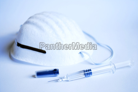 syringe and mask