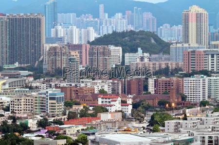 hong kong crowded buildings