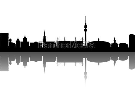 dortmund silhouette abstrakt