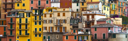 colourful texture of manarola village