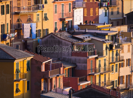 colourful texture of riomaggiore village