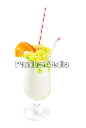 milk fruit cocktail