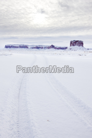 monument valley national park in winter