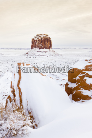 winter merrick butte monument valley national