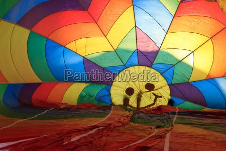 hot air balloon from inside