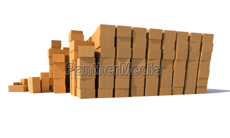 cardboards boxes wall