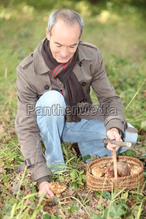 elderly monsieur in woods