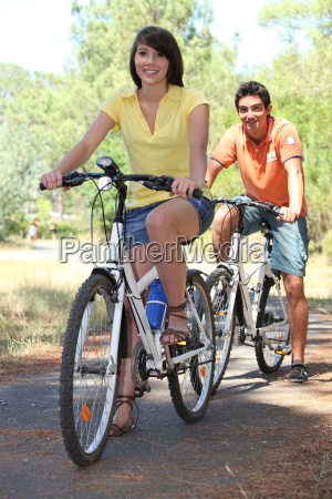 couple on a bike ride in