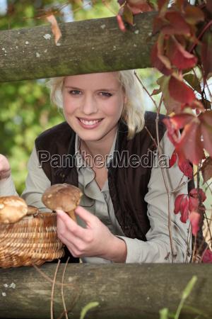 mushroom picking