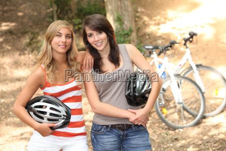 girls mountain biking