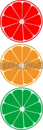vector citrus as traffic light