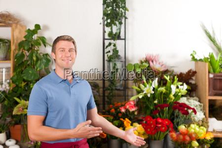 florist in blumenladen