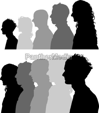 menschen profile gesichter silhouetten