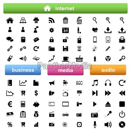 internetbusiness und multimedia icons