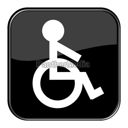 button rollstuhl symbol
