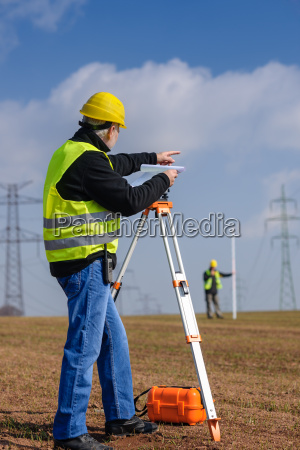 geodesist measure land point direction
