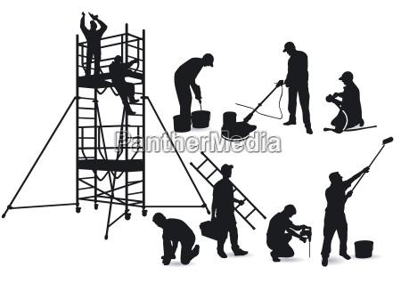 handwerker und geruest