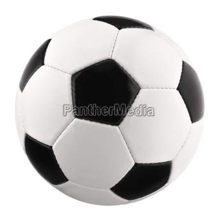 perfekter fussball auf reinweiss