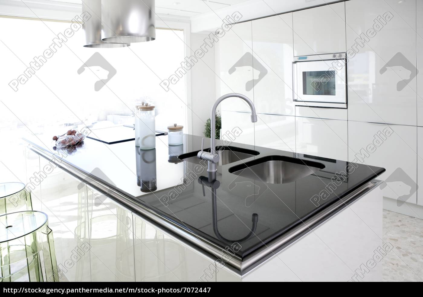 moderne weiße küche sauber innenarchitektur - Lizenzfreies Bild - #7072447 - Bildagentur ...