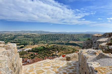 morella in spain landscape with