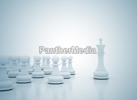 schach-könig, führungskonzept - 7761423