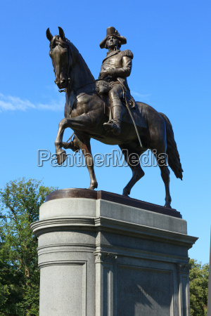 george washington statue in boston common