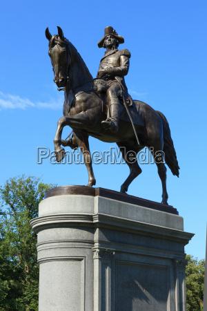 george, washington, statue, in, boston, common - 7778697