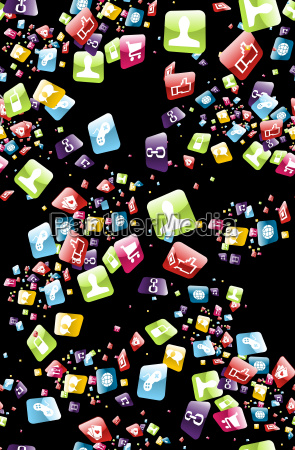 smart phone apps pattern