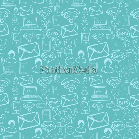 social media cartoon icons pattern