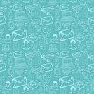 social media cartoon icons pattern