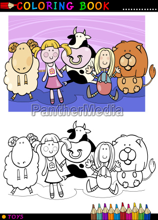 cartoon cute toys for coloring