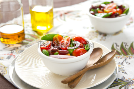 tomato with beans salad